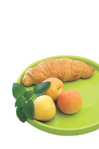υγεινό πρωινό σε δίσκο