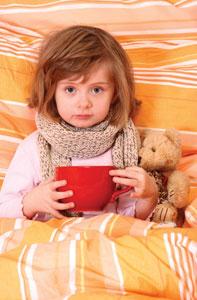 κοριτσάκι άρρωστο