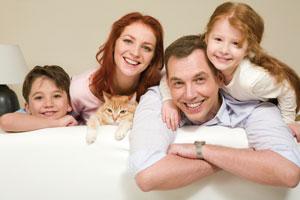 ευτυχισμένη οικογένεια