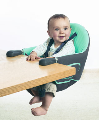 baby in food seat