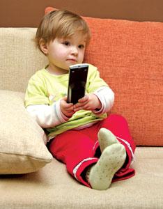 μωρό με τηλεκοντρόλ
