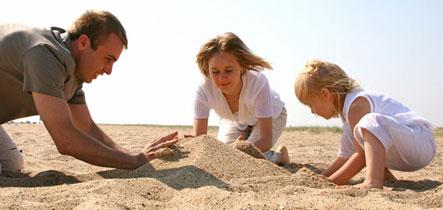 παιχνίδια στην άμμο,οικογένεια
