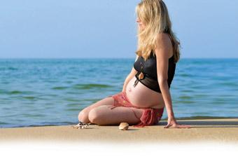 pregnant and sea