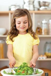 παιδί σαλάτα