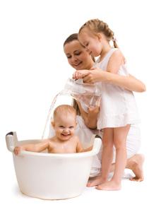 το μπάνιο του μωρού