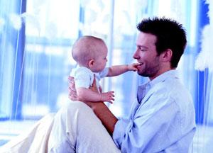 μπαμπάς με μωρό