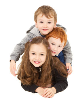 τρια παιδιά