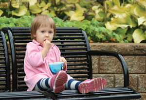 baby eats alone