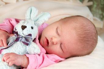 μωρο κοιμάται λαγουδάκι