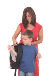 σχολική τσάντα πλάτη