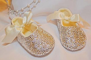 shoes with pearls