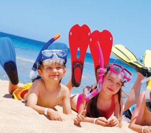 παιδιά στην παραλία