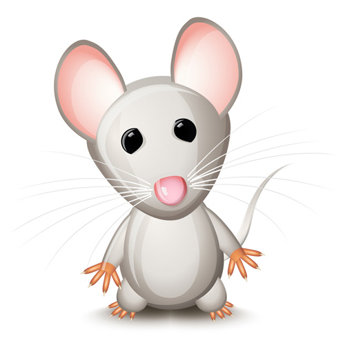 stickers color mouse