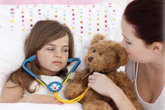 άρρωστο κοριτσάκι